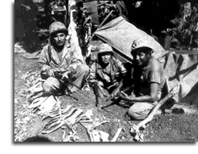 Three Navajo Codetalkers