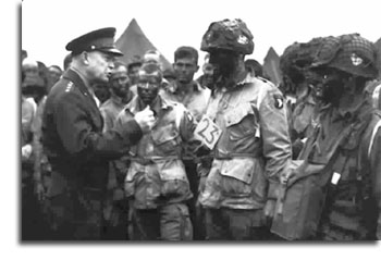 Gen. Eisenhower issues D-Day orders to the 101st Airborne