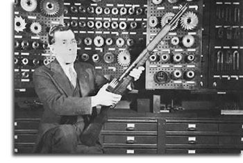 John C. Garand with the M-1 Rifle