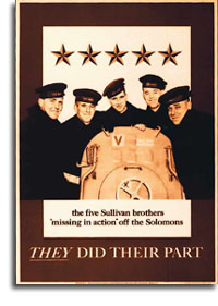 Poster of the Sullivan brothers