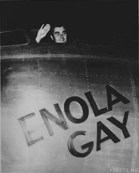 Col. Paul W. Tibbets, Jr., pilot of the Enola Gay, August 6, 1945