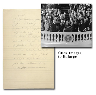 Collage of John F. Kennedy's inaugural address
