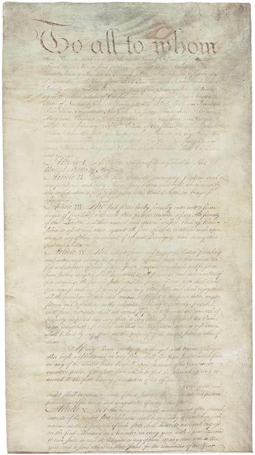 Articles of Conferation