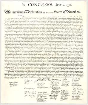 The Declaration of Independence via http://www.archives.gov
