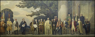 Get your picture taken in front of this wonderful mural high in the rotunda of the National Archives