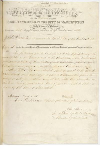 proposing a 13th amendment