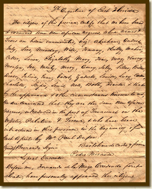 Certificate, U.S. v. Slaves of the Syrena, May 12, 1820