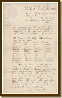 Warrant for Habeas Corpus, September 21, 1839
