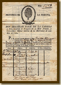 Travel Document for the Schooner Syrena, 1817