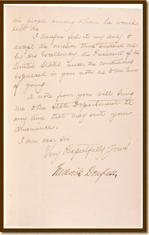 Documented Rights Image Detail: Letter from Frederick ...