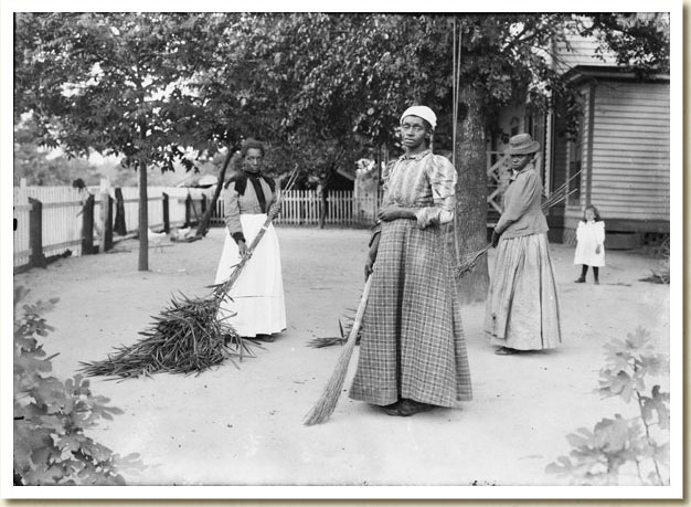 Photograph of African-American Women with Brooms of Bambusa, September 29, 1899