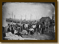 African American laborers at Alexandria, near Coal Wharf