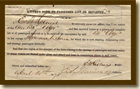 Master's Oath, Barque Azor, April 20, 1878