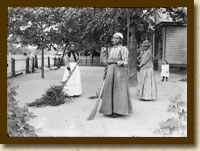 African-American Women with Brooms of Bambusa