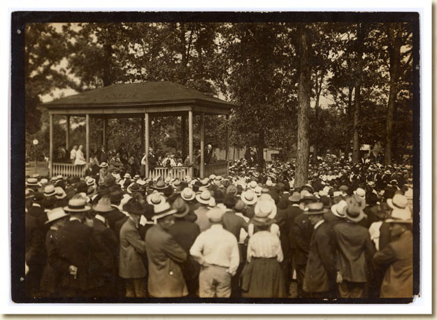 Photograph, Eugene V. Debs Speaking in Canton, Ohio,