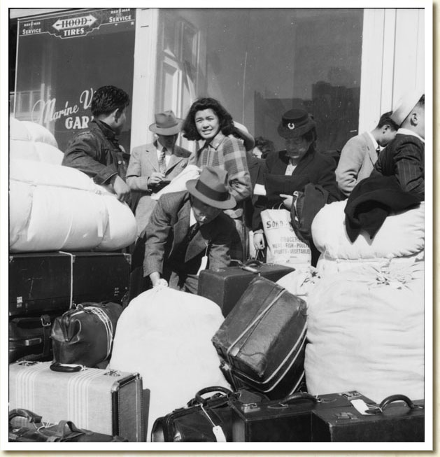 Japanese Evacuation from San Francisco, California, April 16, 1942