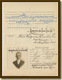 Enemy Alien Registration Affidavit of Hans Joachim von Fischer-Treuenfeld, February 8, 1918