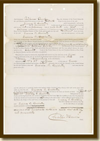 U.S. vs. Susan B. Anthony, Record of Conviction, June 28, 1873