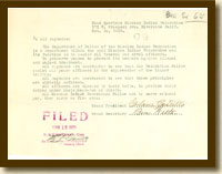Letter from Adam Castillo to All Captains, October 30, 1922