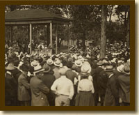 Photograph, Eugene V. Debs Speaking in Canton, Ohio, June 16, 1918