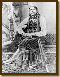 Comanche Quanah Parker, founder of the Native American Church, 1880s