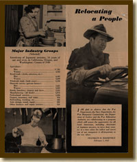 Brochure, Relocating a People, February 1, 1943