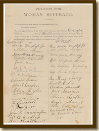 Petition for Woman Suffrage, 1877