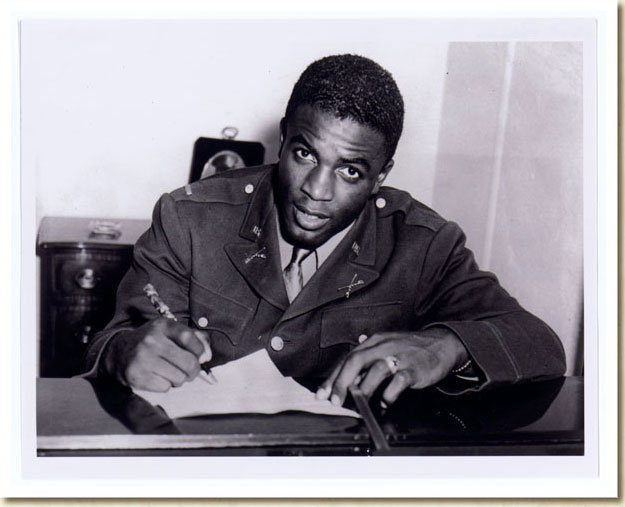 Photograph, 2nd Lt. Jackie Robinson in Uniform, 1940s