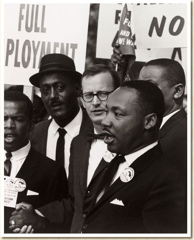 Photograph, Martin Luther King in Civil Rights March