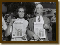 Photograph, Couple Protesting Desegregation, R. W. Kelley v. City of Nashville, 1957