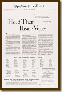 Advertisement, Heed Their Rising Voices, New York Times, March 29, 1960