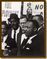 Photograph, Martin Luther King in Civil Rights March on Washington, DC, August 28, 1963