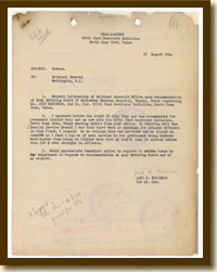 Jack R. Robinson to the Adjutant General, Request for Retirement from Active Duty, August 25, 1944