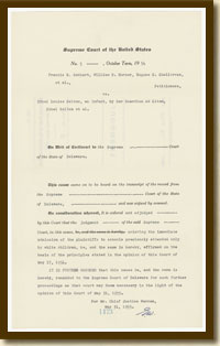 Judgment, Belton v. Gebhart, May 31, 1955 (facsimile)