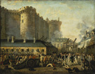 <em>Storming of the Bastille, July 14th, 1789</em>, painting, unattributed, eighteenth century