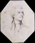 <em>Thomas Jefferson</em>, pencil on paper, unattributed, eighteenth century