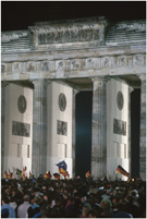 Reunification festivities at the Brandenburg Gate, photograph by Owen Franken, October 3, 1990
