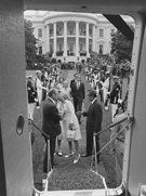 Richard Nixon departs from the White House before Gerald Ford was sworn in as President, photograph by Oliver F. Atkins, August 9, 1974