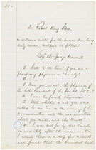 Statement of Dr. Robert King Stone, President Lincoln�s family physician, May 16, 1865, page 43a