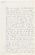 Statement of Dr. Robert King Stone, President Lincoln�s family physician, May 16, 1865, page 44a