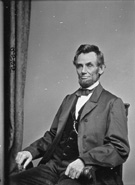 Abraham Lincoln, photograph from the Mathew Brady Collection, ca. 1861�65