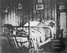 President Lincoln�s deathbed, photograph by Julius Ulke, April 15, 1865