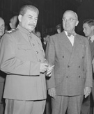 Soviet Marshal Joseph Stalin and President Truman (detail), July 17, 1945