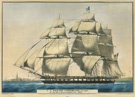 <em>U.S. Frigate <em>Cumberland</em>, 54 Guns. The flag ship of the Gulf Squadron, Com. Perry,</em> lithograph by N. Currier, 1843