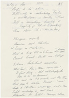 President Jimmy Carter�s notes from his private meeting with Pope John Paul II, October 6, 1979, front