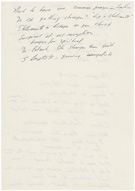President Jimmy Carter's notes from his private meeting with Pope John Paul II, October 6, 1979, reverse