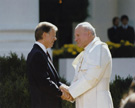 President Jimmy Carter with Pope John Paul II, photograph by Bill Fitz-Patrick, October 6, 1979