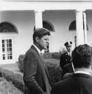 President John F. Kennedy at the White House, photograph by Cecil Stoughton, October 24, 1961