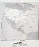 Map showing potential missile range, 1962