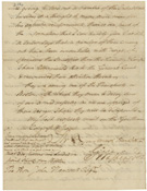 Letter from Gen. George Washington to John Hancock, President of Congress, regarding an alleged plot of the British to spread smallpox among the American troops, December 4, 1775, signature page